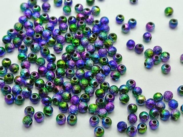1000 Orange 4mm Round Wood Beads~Wooden Mini Spacer Beads Jewelry Making