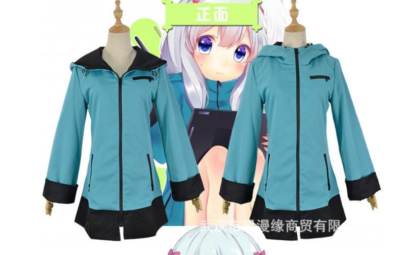 Izumi Sagiri Cosplay Eromanga Sensei Anime Costume Hoodie or Pajamas Uwowo Costume Eromanga Sensei Sagiri Izumi Cosplay
