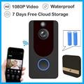 1080P дверной звонок, WiFi, умный беспроводной дверной звонок для безопасности, умный домофон, запись с дистанционным управлением, водонепрониц...