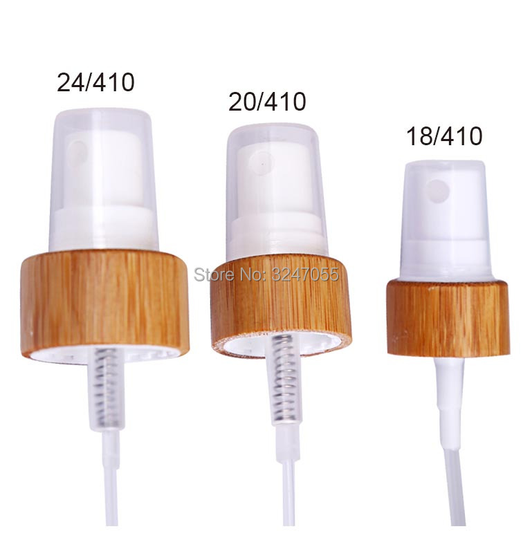 купить 50/100pcs 24/410 Cosmetic White Bamboo Spray Nozzle,Natural Bamoo Mist Sprayer for Cosmetic Bottle,Bamboo Cosmetic PerfumeNozzle по цене 4568.75 рублей