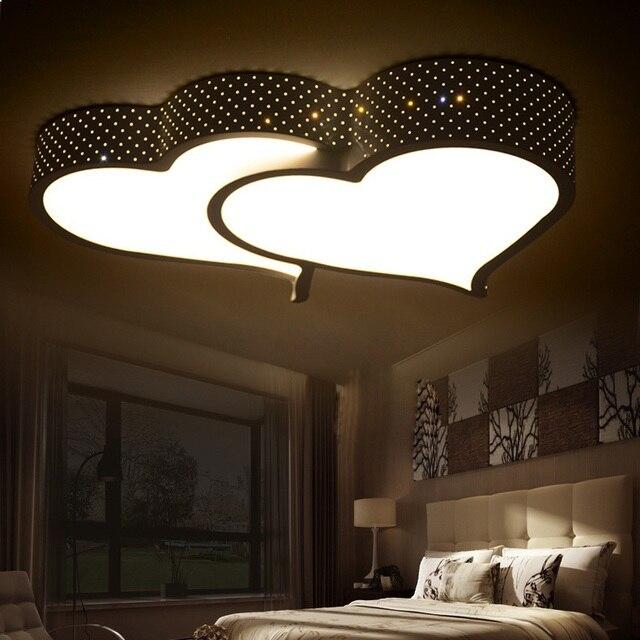 Romantic Bedroom Lighting: Creative Heart Shaped LED Ceiling Light Romantic Bedroom