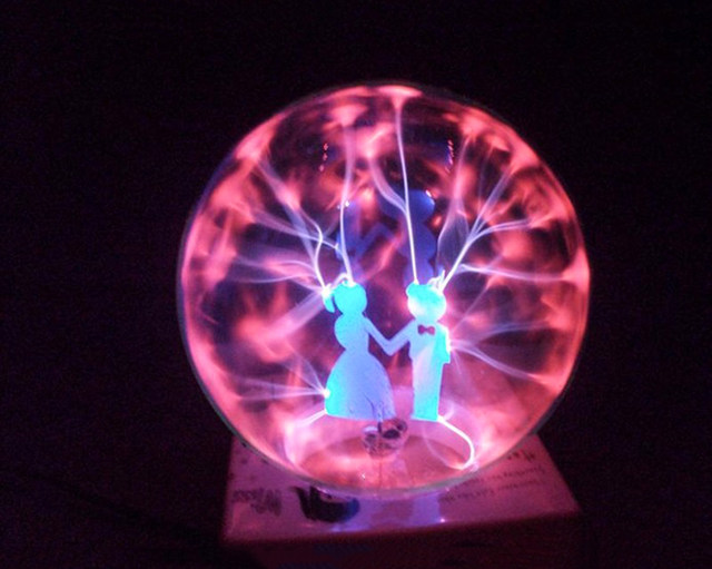 Online Shop 4 Inch LED Plasma Lamp Romantic Couple Wedding Nigh