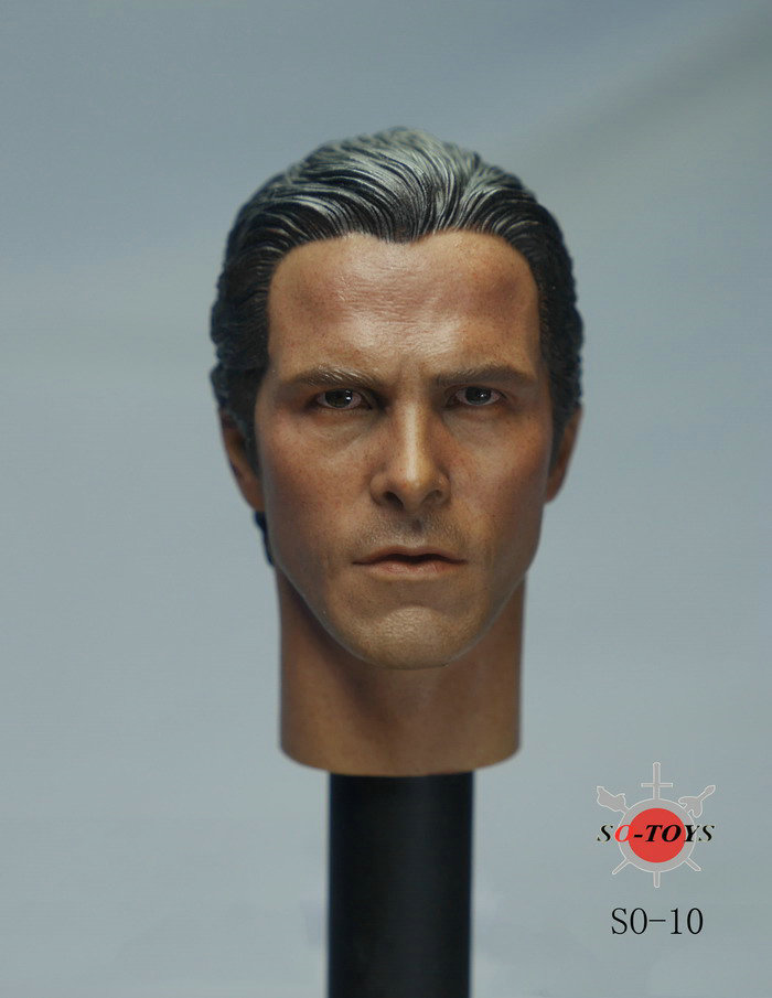 1/6 Batman Bruce Wayne Christian Bale Head Sculpt 2.0 For Hot Toys muñeco buffon