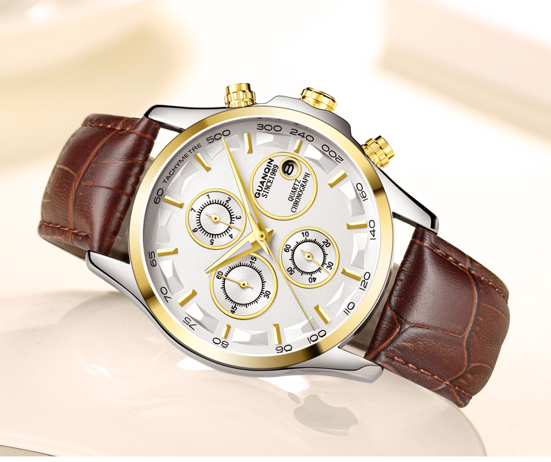 GUANQIN GS19112 watches men luxury brand quartz watch multi-functional men's watch trend sports luminous waterproof calendar 49