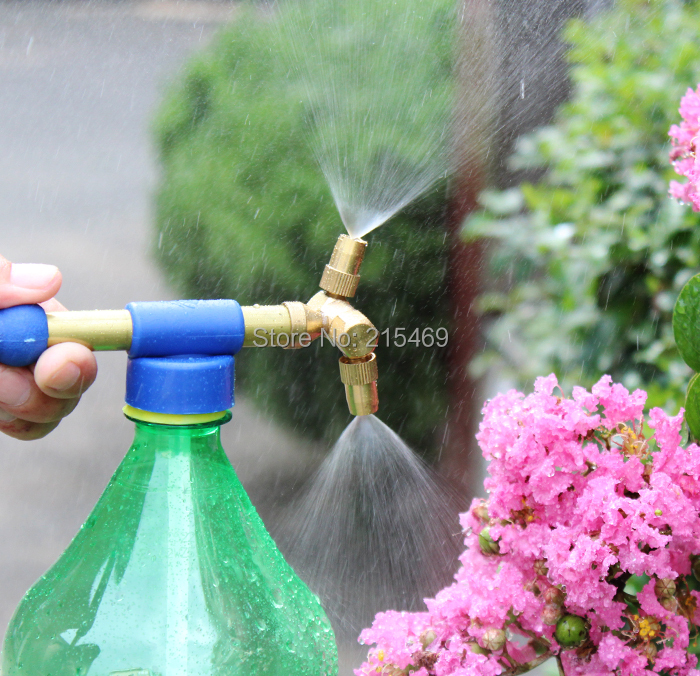 FREE SHIPPING iLOT Double nozzle flit-style trombone COLA sprayer with very fine mist for home and garden, highly recommend!