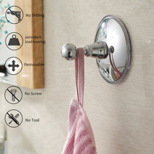 2pcs Bathroom  Kitchen Strong suction Hook Adhesive Wall Hook Over Door