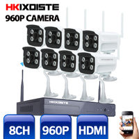8CH Wireless NVR Network Kit 960P 1 3MP WIFI CCTV System IR Outdoor P2P Video Security