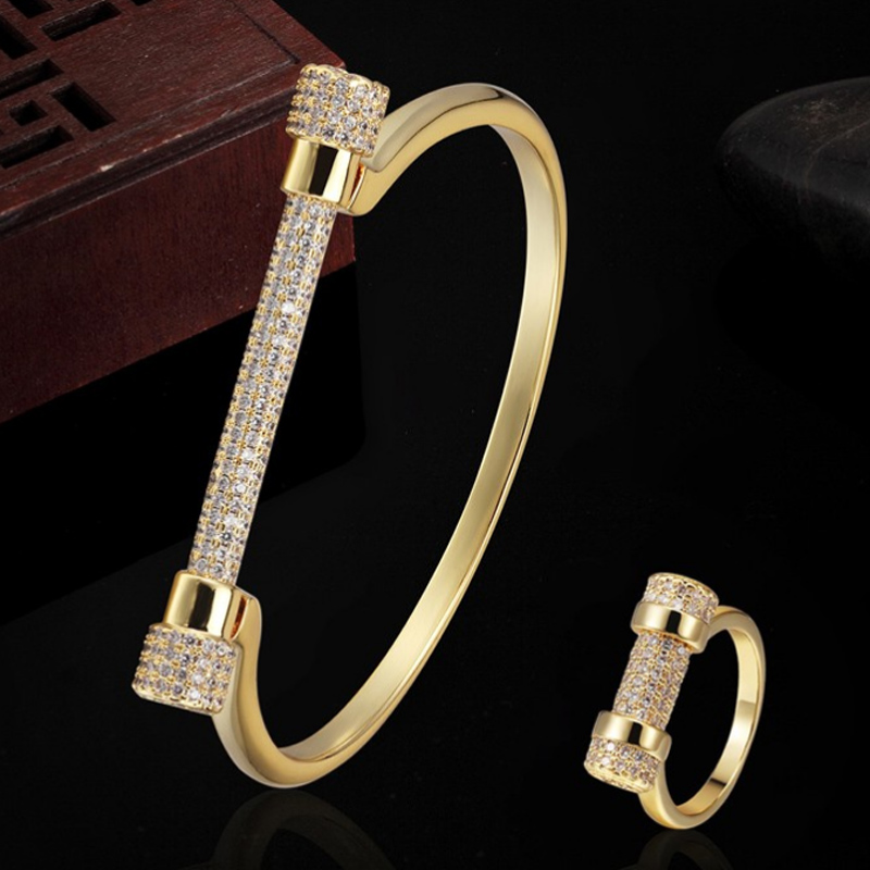 Luxury Brand Copper Zircon Bracelet Jewelry couple gifts Men's Dubai Jewelry Zirconia Women Love Chain Bangles Pulseira