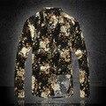 Большой размер М-6XL Персонализированные печати Хлопок и Лен качества с длинными рукавами рубашки 2016 Новое прибытие мода повседневная бутик мужчины рубашка