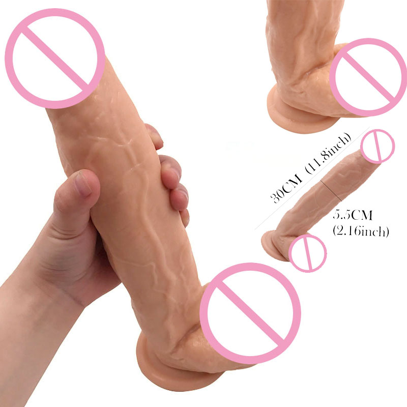 Super Thick Huge Dildo 11.8 inch Extreme Big Realistic Dildo Sturdy Suction Cup Penis Dick Dong Sex Product for Women Sex Toys zerosky 15 5 inch huge dildo double ended long penis sex toys for women big fake penis dick soft dildo masturbate erotic product