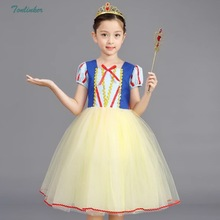 Girls Snow Princess Halloween Party Dress Clothing Carnival Cosplay Costume 2-8 years
