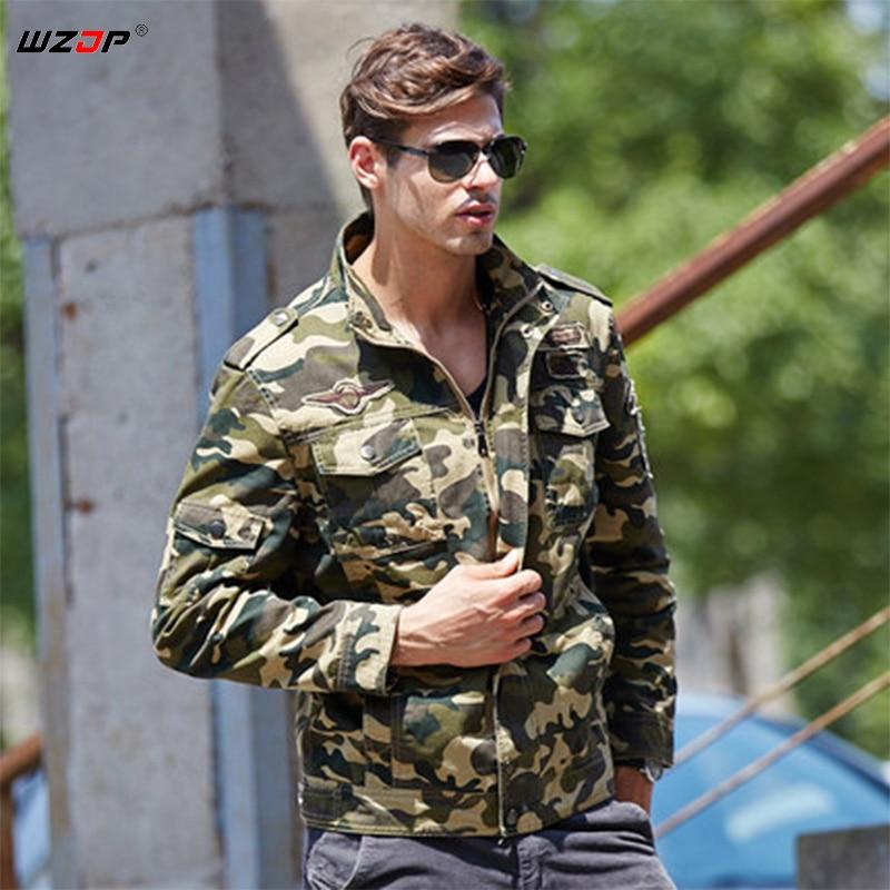 Hiking Clothings Forceful Wzjp 2018 New Autumn Mens Camouflage Jackets Male Coats Camo Bomber Jacket Outwear Coat Windbreaker M-3xl Size 100% Original Sports & Entertainment