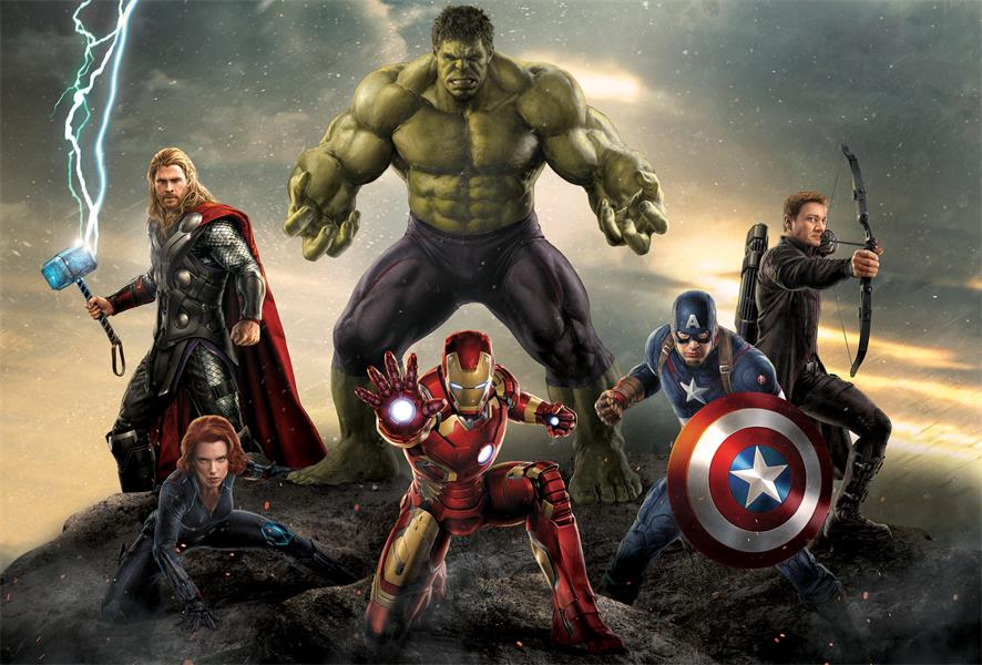 Magasin Stickers Custom Wall Decor The Avengers Poster Hulk Thor Wallpaper
