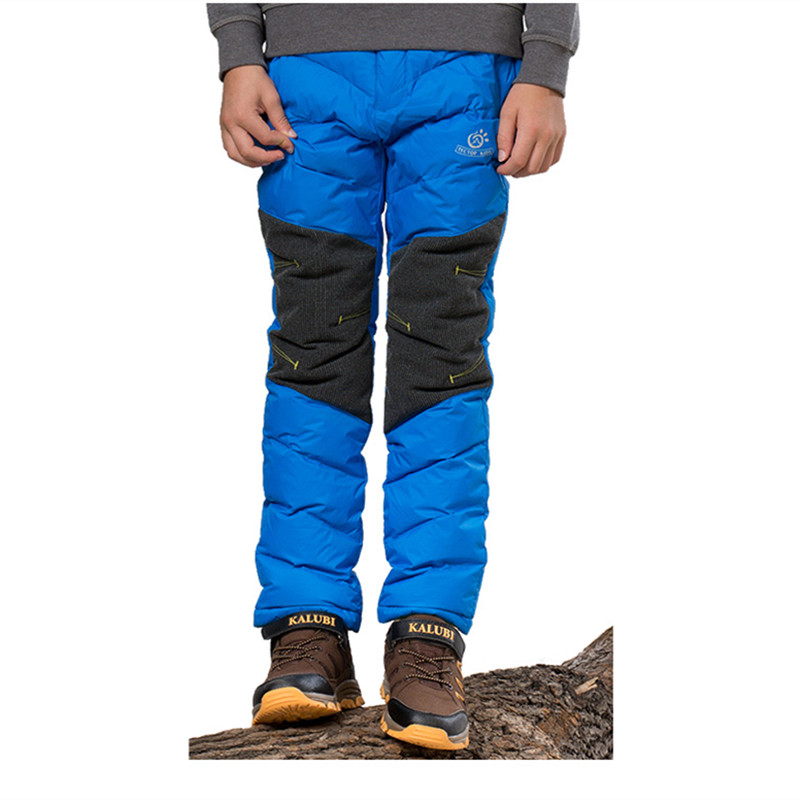 Tectop child windproof waterproof thermal down pants Winter Trousers tectop winter 90