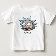 Rick and Morty  T-shirts For Children Boy Girls 100%Cotton Tee Tops Summer Cute Tops White T shirts Kids Short sleeve Clothing стоимость