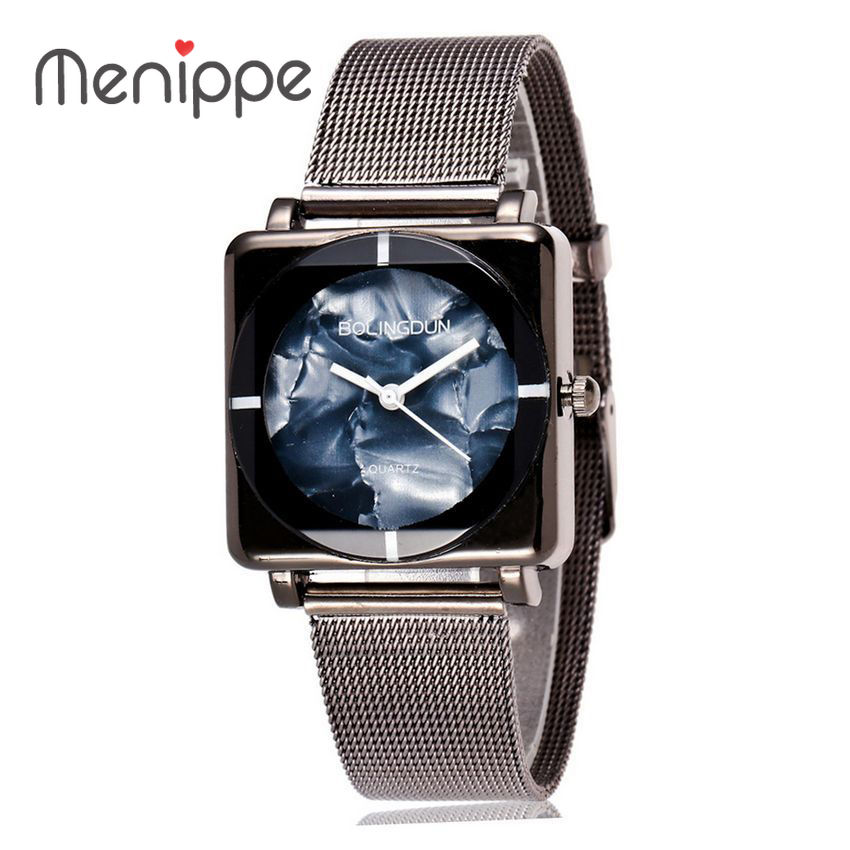 2017 New Trendy Black Color Wrist watches Lover`s Luxury Watch Brand Simple Designer Fashion High Quality Bracelet Quartz Watch
