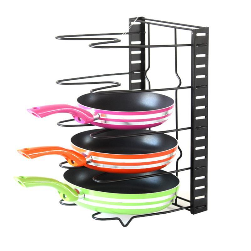 Adeeing Originalität Küche Liefert Multifunktionale Faltbare Lagerung Rack für Topf Abdeckung Pan Hacken Bord