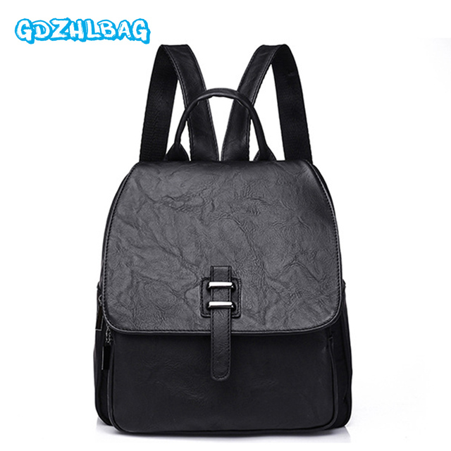 Women Backpack Small Size PU Leather Women s Backpacks Fashion School Girls  Bags Female Back Pack Famous Brand mochilas B20901 4a52a55316bb3