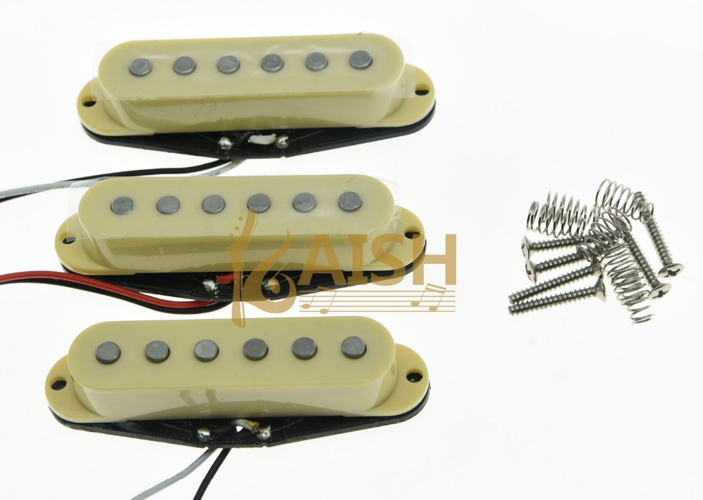 3x N/M/B Cream Alnico 5 Single Coil Pickups High Output Sound Strat SSS Pickup tsai hotsale vintage voice single coil pickup for stratocaster ceramic bobbin alnico single coil guitar pickup staggered pole