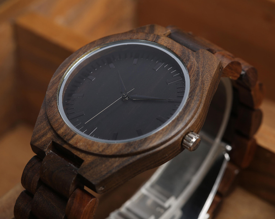 Walnut Wood Watch Men Natural Wooden Watches Male Casual Wristwatch Brown Clock 1