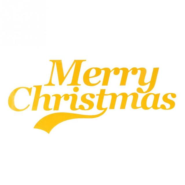 merry christmas words style greeting car body decal pvc sticker decoration stickers 4 color available - Merry Christmas Words