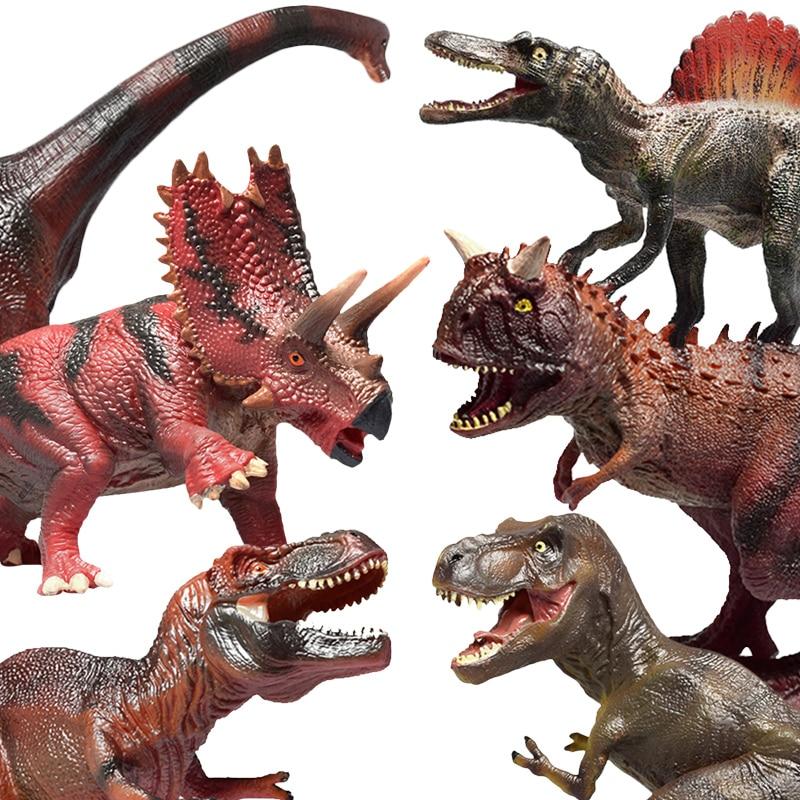 DODOELEPHANE Soft TPR Dinosaur Toy for Jurassic Action Figure Tyrannosaurus Dragon Dinosaur Animal Collection Model Toys For Boy