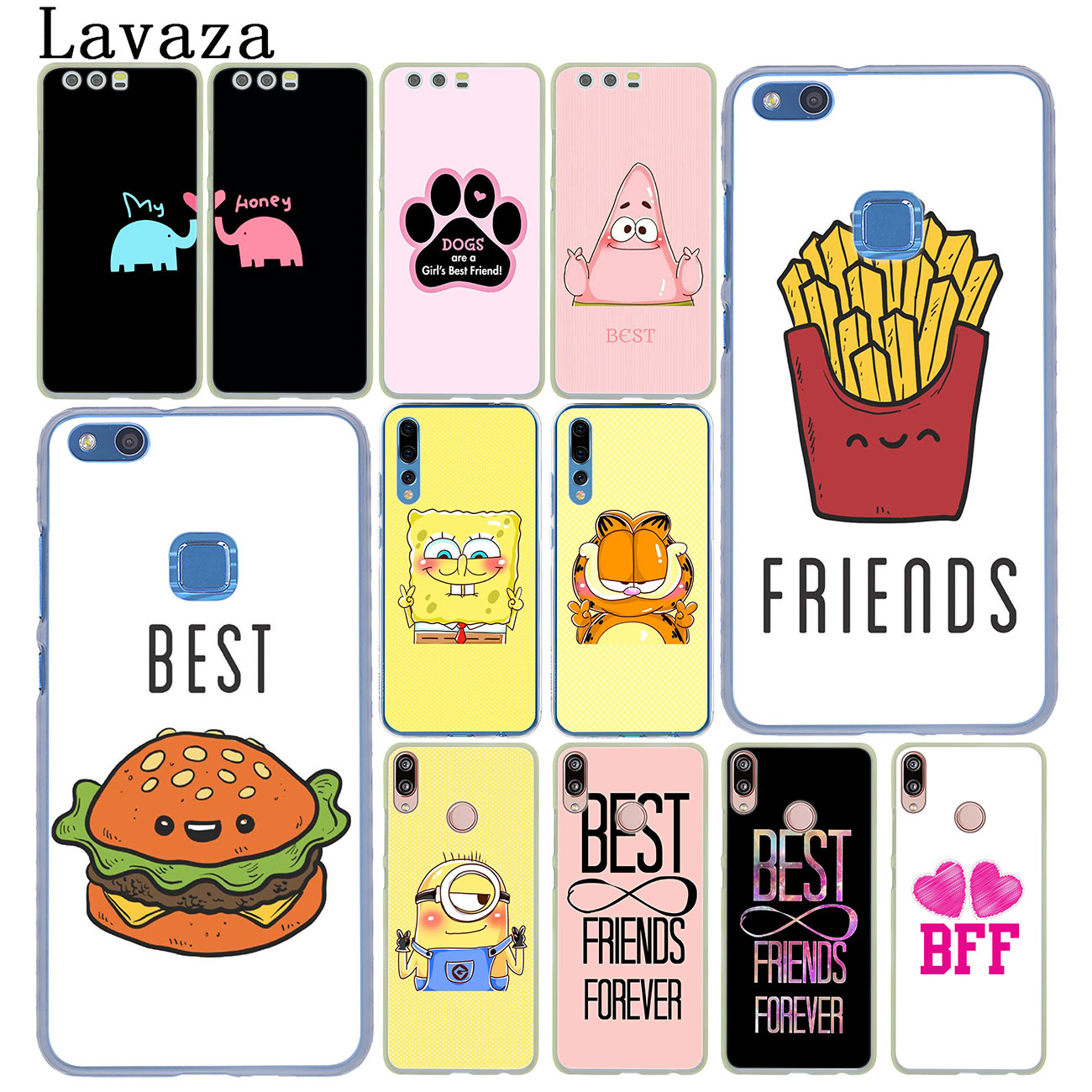 Lavaza Best Friends <font><b>Girl</b></font> Phone <font><b>Case</b></font> for <font><b>Huawei</b></font> Y9 <font><b>Y7</b></font> Y6 Prime <font><b>2019</b></font> 2018 Honor 20 10 8C 8X 8 9X 9 Lite 7C 7X 7A Pro Cover image