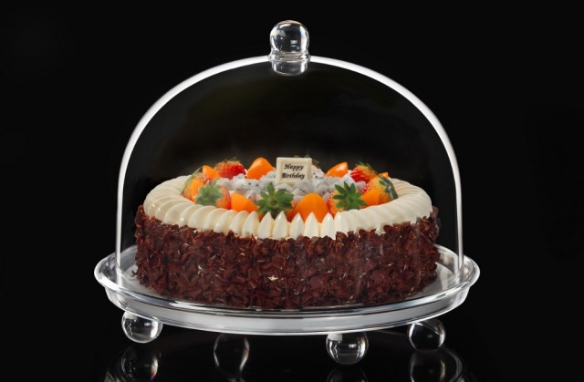 New European-style kitchen jolly bakery 24cm cake dome w/tray u0026 feet : acrylic cake plates - pezcame.com