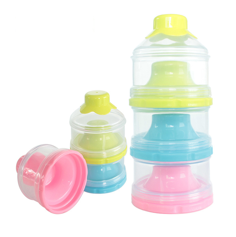 Infant Baby Kids Milk Powder Container Three Grid Dispenser Storage Feeding Box
