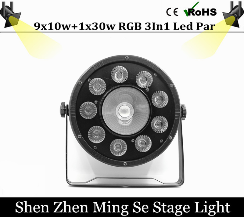 Free Shipping 9x10W+30w Flat LED Par Lights, 9*10w+30w RGBW 3IN1 PAR DMX512 control disco lights professional stage DJ equipment fast russia shipping 7x12w led par lights rgbw 4in1 flat par led dmx512 disco lights professional stage dj equipment
