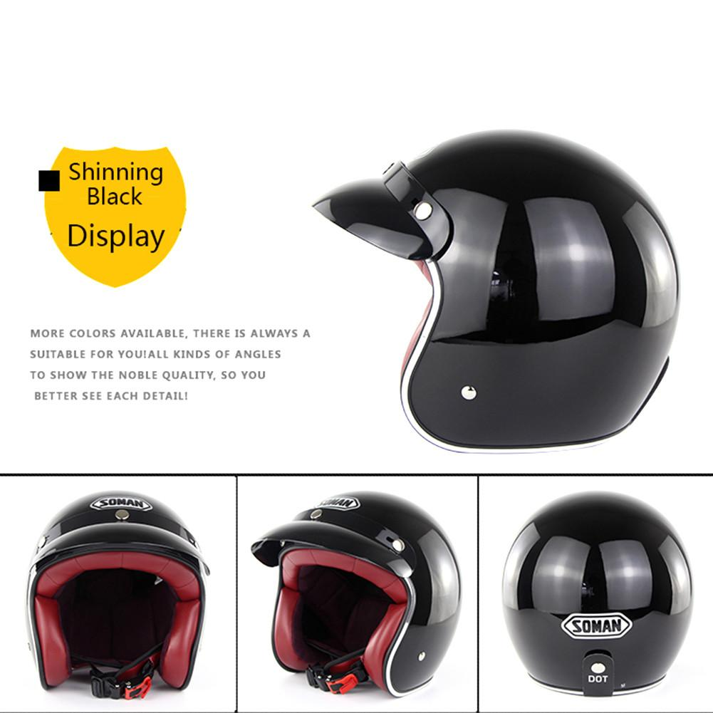 Motorcycle Helmet Harley Retro Helmets Chopper Vintage Moto Helmet Open Face Old School Casco Summer Casque DOT Approval SM512 dot approval brand cg512 chopper vintage motorcycle helmet retro motocicleta cacapete casco casque open face harley helmets