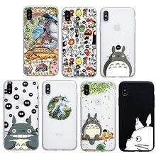f1505d2f9f かわいい漫画日本トトロソフトシリコンケースのための iphone 6 S 6 7 8 プラス電話カバー Funda ため Coque iphone 5s  SE X XS