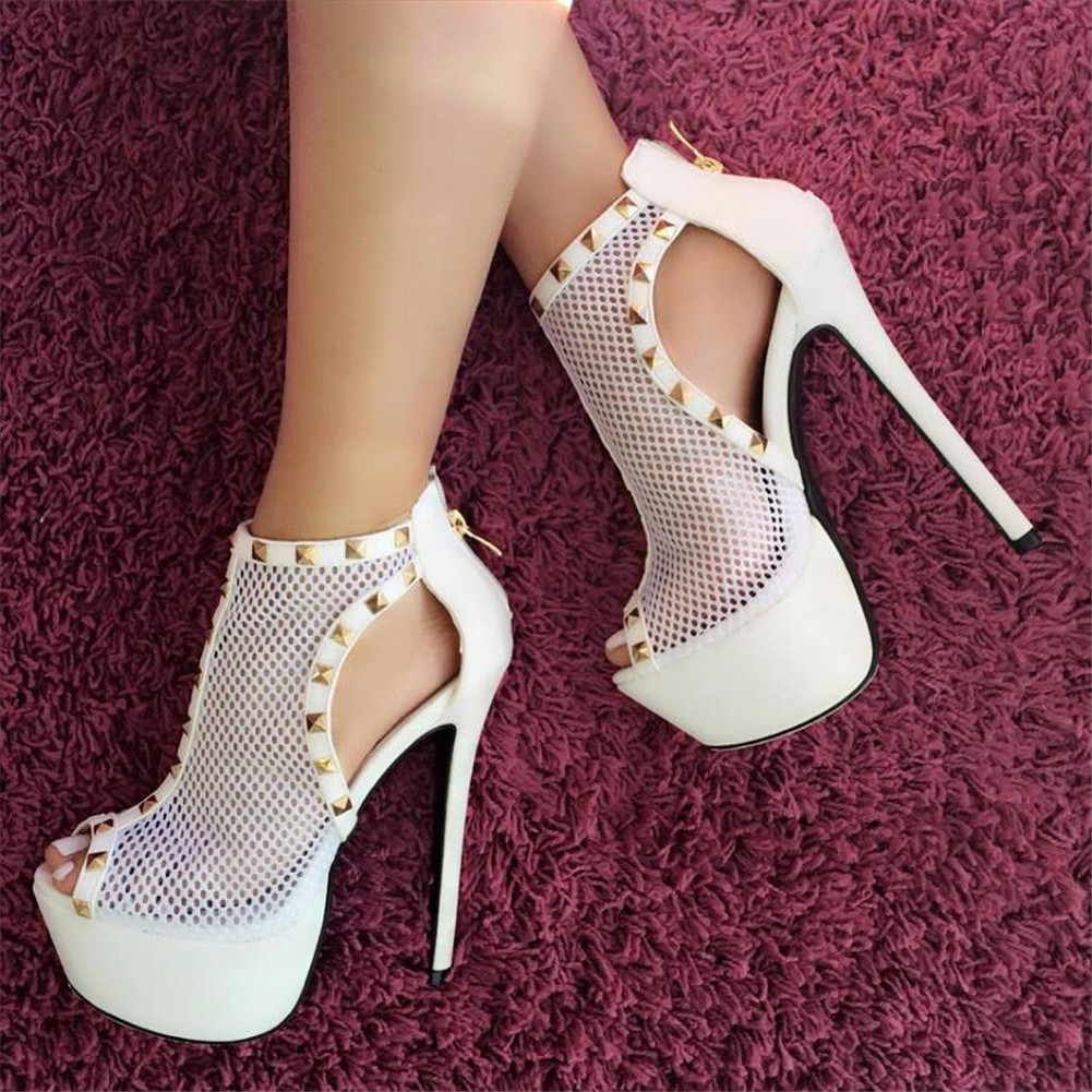 DoraTasia Brand Design Big Size 47 Sexy Party platform Women Shoes air mesh Summer nightclub Thin