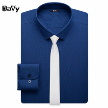 Davy Customized letters Long Sleeve Striped Men Shirts Made by tailor Plus Size Man Dress Shirt Casual Social Male Casual Shirts
