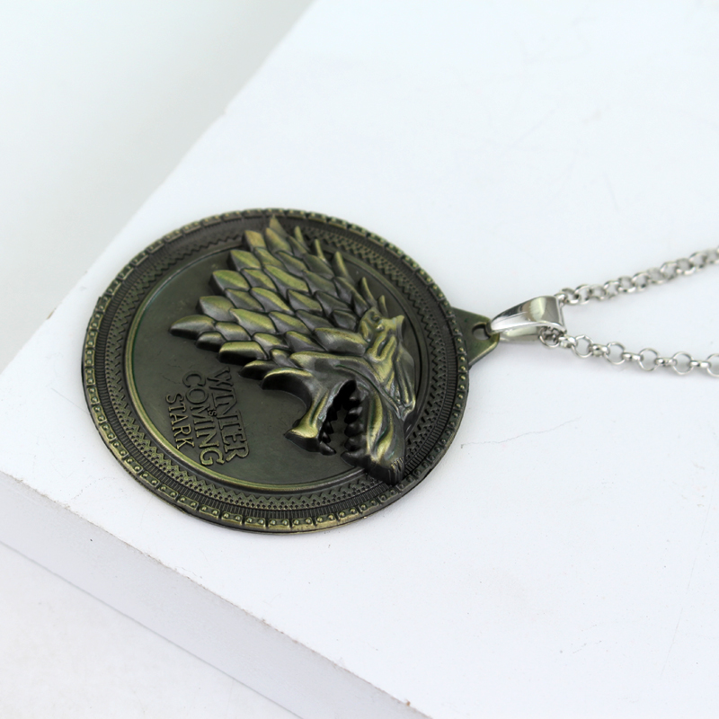Game of Thrones House Stark Winter Coming Necklace
