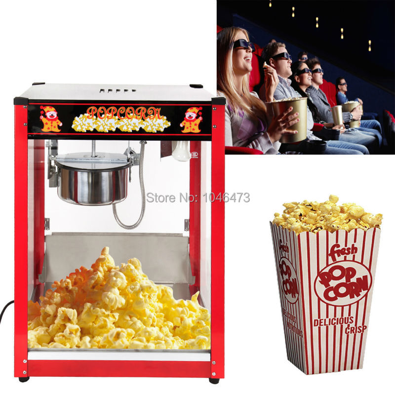 8OZ Commercial Electric Tabletop Kettle Pop Corn Maker Popcorn Popper  Machine 1370W Home Theater Style 2 Pan/min In Popcorn Makers From Home  Appliances On ...