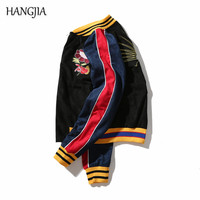 New Stitching Embroidery Slim Baseball Jacket 2017 Winter Fashion Retro Tide Brand Warm Thicken Jackets Youth Couple Coat