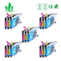 1240XL 15PCS CMY Compatible Ink Cartridge For LC12 LC40 LC71 LC73 LC75 LC400 LC1220 LC1240 For Brother Printer J840N