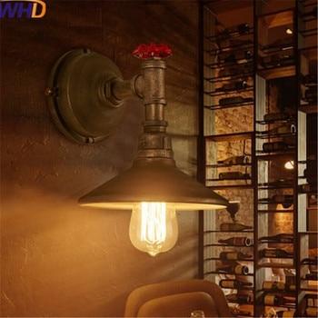 Edison Loft industriel fer rouille tuyau d'eau rétro applique murale Vintage créatif Restaurant chambre appliques lumières éclairage à la maison