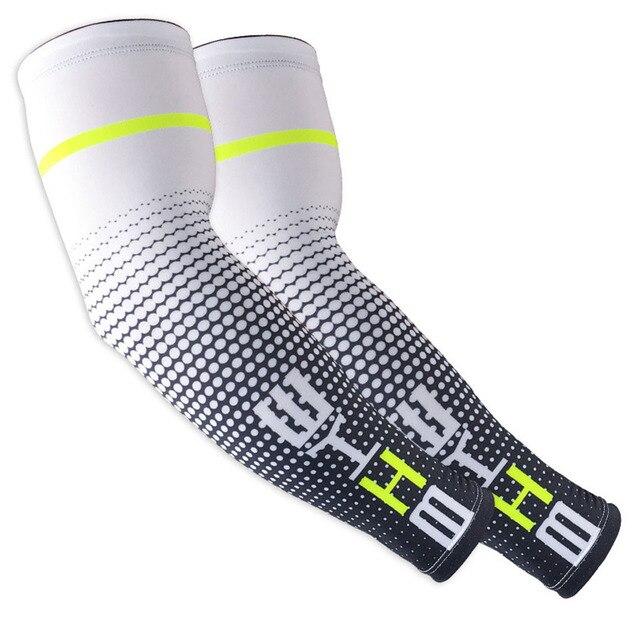Gobygo 1 par legal dos homens ciclismo correndo bicicleta uv proteção solar manguito capa de proteção braço luva da bicicleta esporte braço aquecedores mangas 6