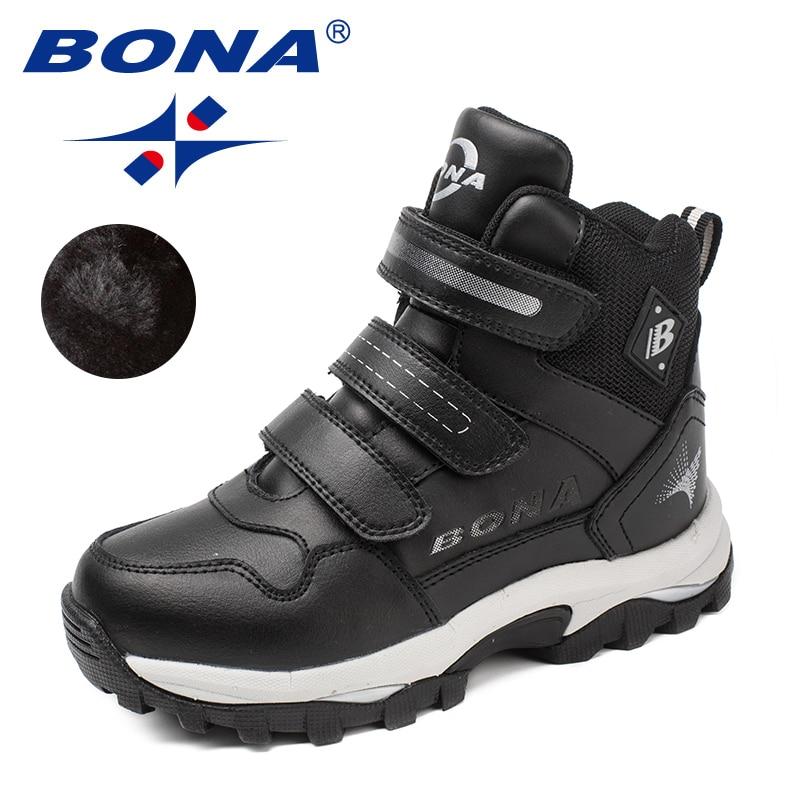 Bona Neue Klassiker Stil Kinder Stiefel Runde Kappe Jungen Winter Schuhe Haken & Schleife Mädchen Schnee Stiefel Komfortable Schnelles Freies Verschiffen