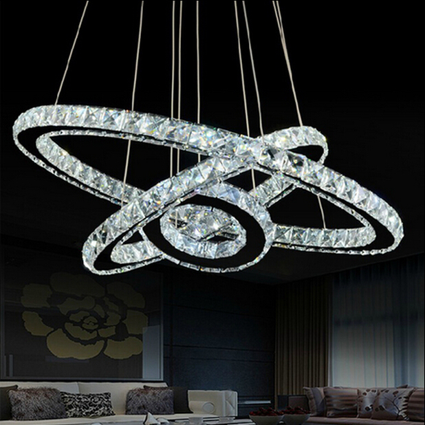 Free Shipping Hot Sale Diamond Ring LED Crystal Chandelier