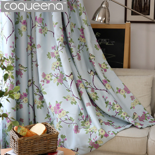 Birds Amp Floral Ready Made Custom Curtains For Living Room