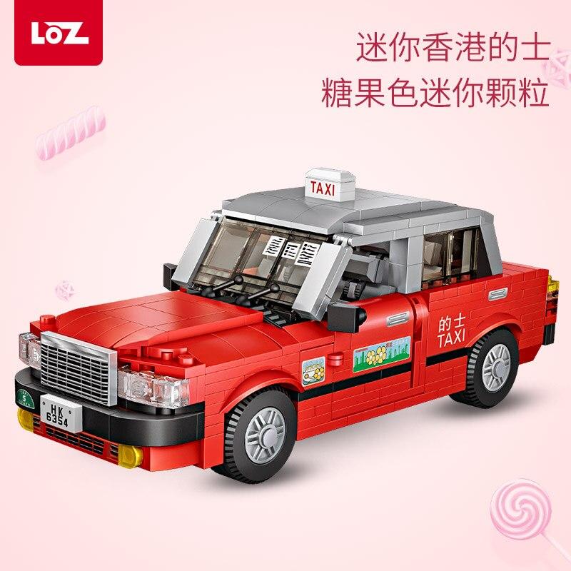 Oyuncaklar ve Hobi Ürünleri'ten Bloklar'de LOZ küçük parçacıklar yazılı out mini yapı taşları Hong Kong taksi taksi model mini modelleme çocuklar için yaratıcı hediye'da  Grup 1