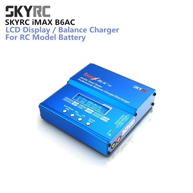 SKYRC iMAX B6AC V2 6A Lipo LiFe LiIon LCD Display Battery Balance Charger / Discharger For Charging Re-peak Mod RC Model Battery