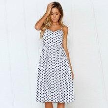2019 summer new womens sexy sling print button chiffon dress street ladies