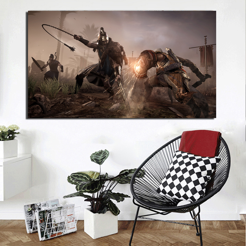 Assassins Creed Origins Phylakes Canvas Painting Print Living Room Home Decoration Modern Wall Art Oil Painting Posters Pictures in Painting Calligraphy from Home Garden