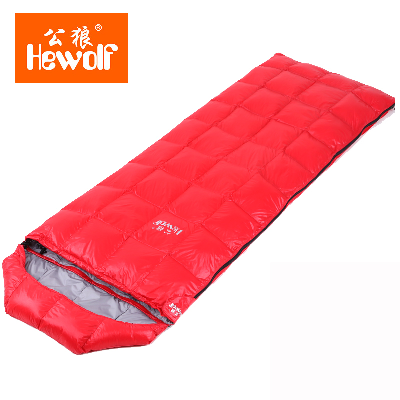 hewolf down sleeping bag warm adult outdoor envelope type super light feather spring camping sleeping bag lunch bag hewolf sleeping bag outdoor cotton lunch break room camping adult spring autumn envelope thickening 2 persons