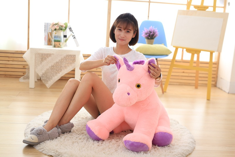 new lovely plush horse toy creative sitting pink horse doll gift about 60cm new lovely plush panda toy stuffed sitting panda doll gift about 60cm