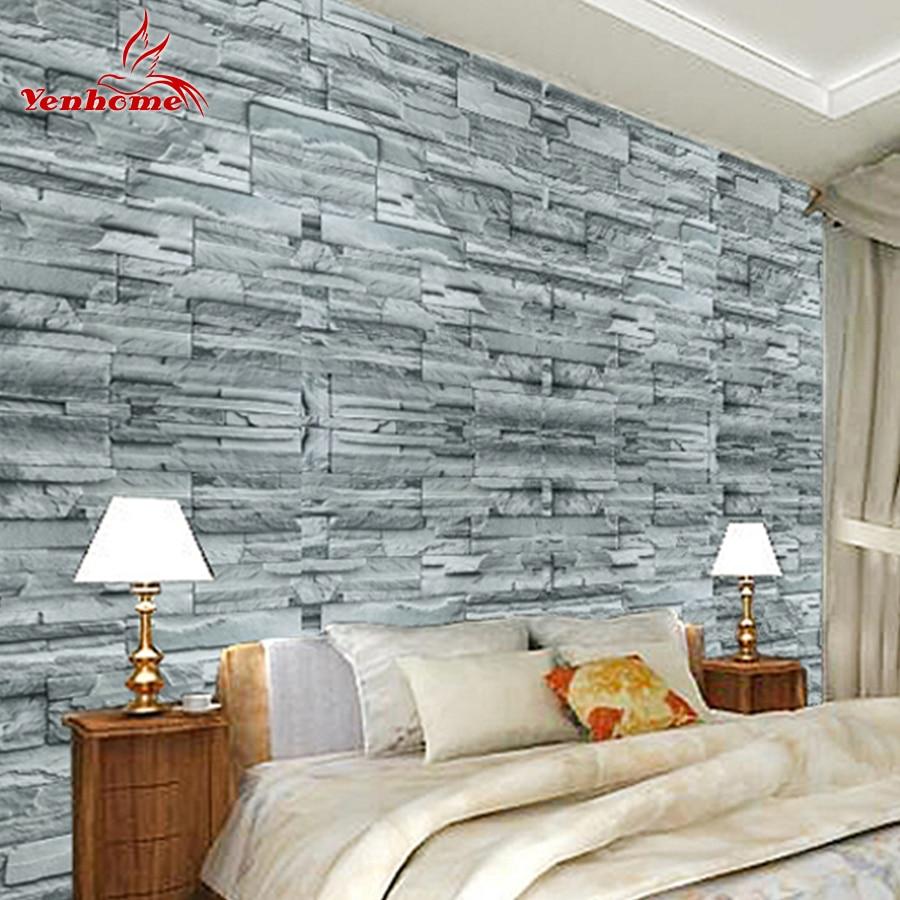 5meter removable self adhesive vinyl 3d vintage for Waterproof wallpaper for bedrooms